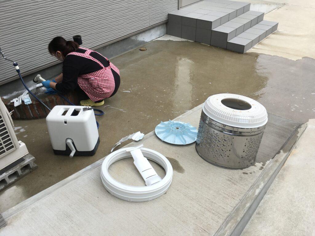 洗濯機の分解清掃
